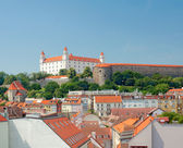 View of Bratislava Castle and the old town — Stock Photo