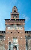 Torre del Filarete (1452), Sforza Castle, Milan, Italy — Stock Photo