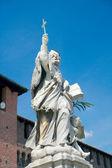 Monument of St. John of Nepomuk (1729), Sforza Castle, Milan, It — Stock Photo