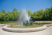Fountain in Medical Garden (Medicka zahrada) in Bratislava, Slov — Stock Photo