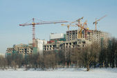 Construction of residential complex, Moscow, Russia — Stock Photo