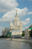 Kotelnicheskaya Embankment Building (1952), Moscow, Russia — Stock Photo
