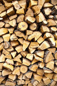 Wood stacked — Stock Photo