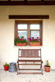 Porch of a cottage — Stock Photo