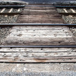 Crossing of the railroad — Stock Photo