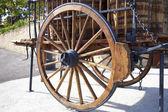 Wheel of wagon — Stock Photo