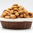 Almonds  in a basket — Stock Photo