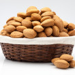 Almond basket — Stock Photo
