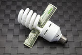 Bulb of low consumption — Stock Photo