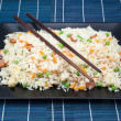 Salver of rice fried — Stock Photo