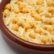 Chickpeas cooked — Stock Photo