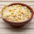 Stock Photo: Bowl of chickpeas