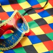 Harlequin costume — Stock Photo
