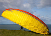 Cliff of a paragliding — Stock Photo