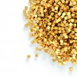 Heap of golden cubes — Stock Photo