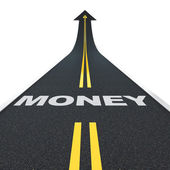 Money road — Stock Photo