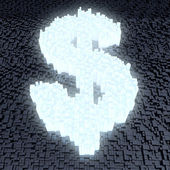 Glowing dollar sign — Stock Photo