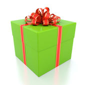 Green gift box — Stock fotografie
