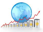 Olja diagram — Stockfoto