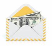 Dinheiro em envelope — Fotografia Stock