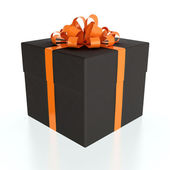 Black gift box — Stock Photo