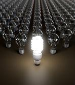 Energiebesparing gloeilamp — Stockfoto