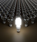Energy saving light bulb — Stockfoto