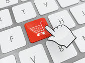 Shopping button — Stockfoto