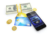 Mobile banking — Stock Photo