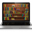 Stock Photo: Electronic library