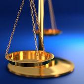 Schalen van justitie — Stockfoto