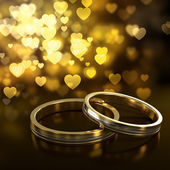 Wedding rings — 图库照片