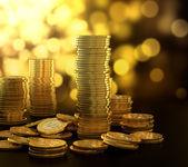 Goldmünze-stack — Stockfoto