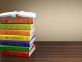 Multi colored book stack — Stock fotografie