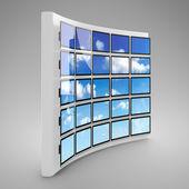 Presentation screen wall — Stock Photo