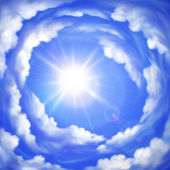 Cloudy sky — Stock Vector