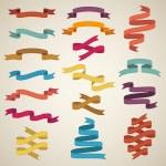 Retro styled ribbons — Stock Vector