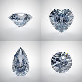 Set of diamonds — Foto de Stock