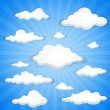 Cloudy sky — Stock Vector