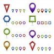 Map markers — Stock Vector #29440735