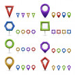Stock Vector: Map markers