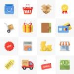 Shopping icons — Stock Vector
