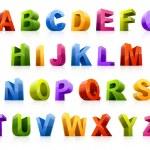 renkli yazı tipi — Stok Vektör