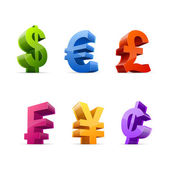 Currency symbols — Stock Vector