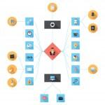 iş ikonları/simgeleri — Stok Vektör