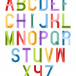 Colorful font — Stock Vector