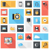 Technology and media icons — Stock Vector