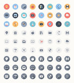 Universal flat icons — Stock Vector