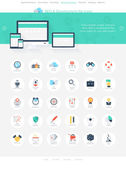 SEO icons — Stock Vector