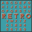 Retro font — Stock Vector